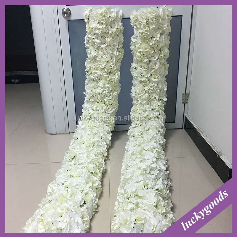 LFB445 2m factory direct sale white flower garland for wedding stage decoration