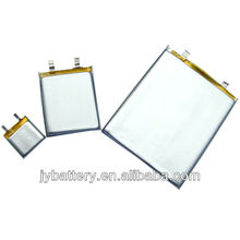 Variety kinds of capacity and dimension li polymer battery