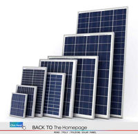 China best price per watt 95W18V aluminium frame poly pv solar panels kit