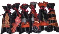Embroidery Wine Bags With Batik Applique