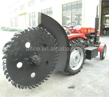 Disc type durable high efficiency pto trencher with bullet teeth