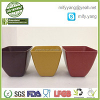 Bamboo Fiber Mini Square Flower Pot