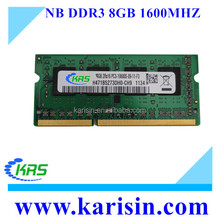 Brand new KST DDR3 1333/1600MHz 204PIN ram memory 8gb laptop ram with original chips