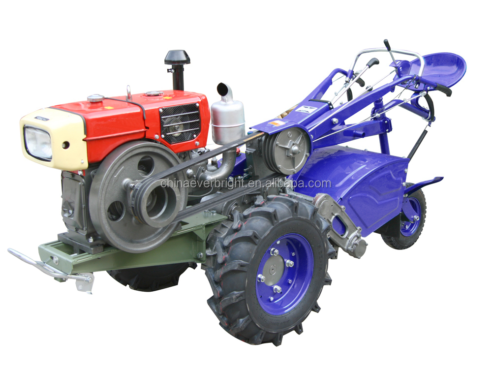 15HP high efficiency electric start Multi-function two wheels walking tractor with changchai diesel engine