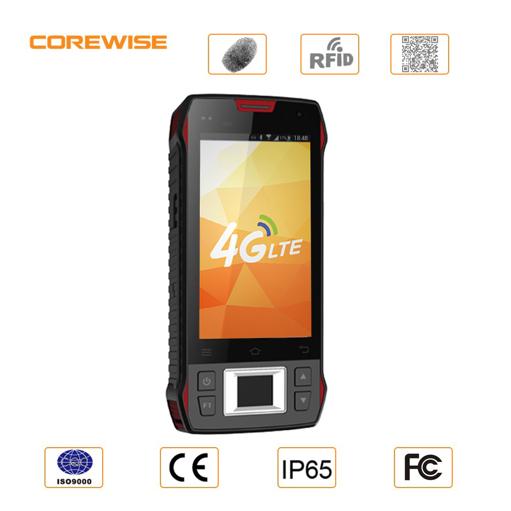 IP65 touch Android FDD-LTE uhf rfid fingerprint pda mobile phone