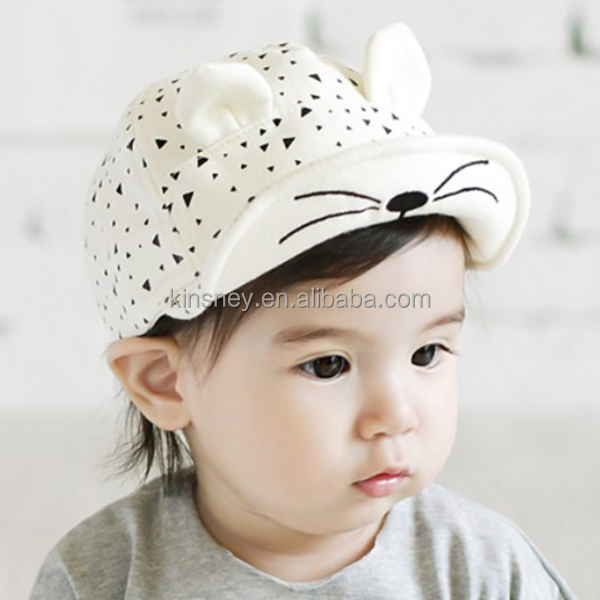 KS20046A High quality popular style stereo peaked cap for baby