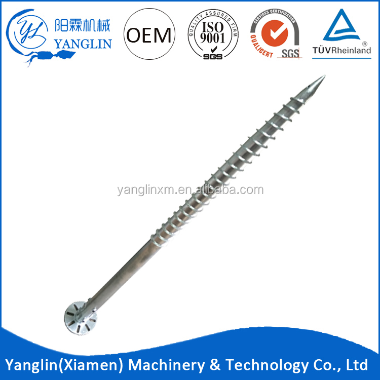 Cheap galvanized Q235 Steel ground earth anchor helical piles