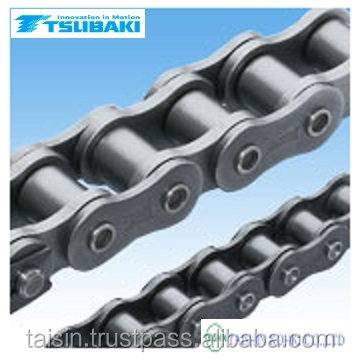 Durable Tsubaki motor chain made in Japan with world standards JIS , ASME , ISO