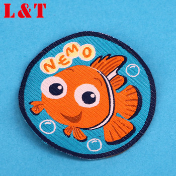Best Selling Custom Self-adhesive Embroidery Patch Fishing Iron On For T Shirt