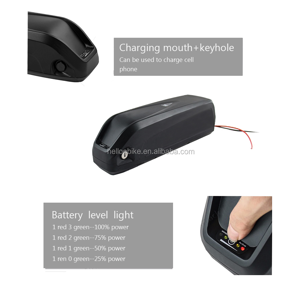 Green safety hailong type battery 36v 13ah ebike battery and charger
