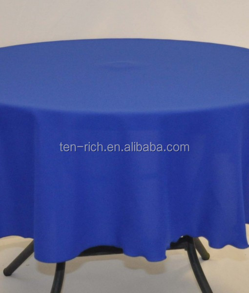 top quality royal blue 120R polyester round table cover in cheap price/round table cloth for banquet