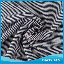 100% Polyester Single jersey fabric stripe knit for T-shirt