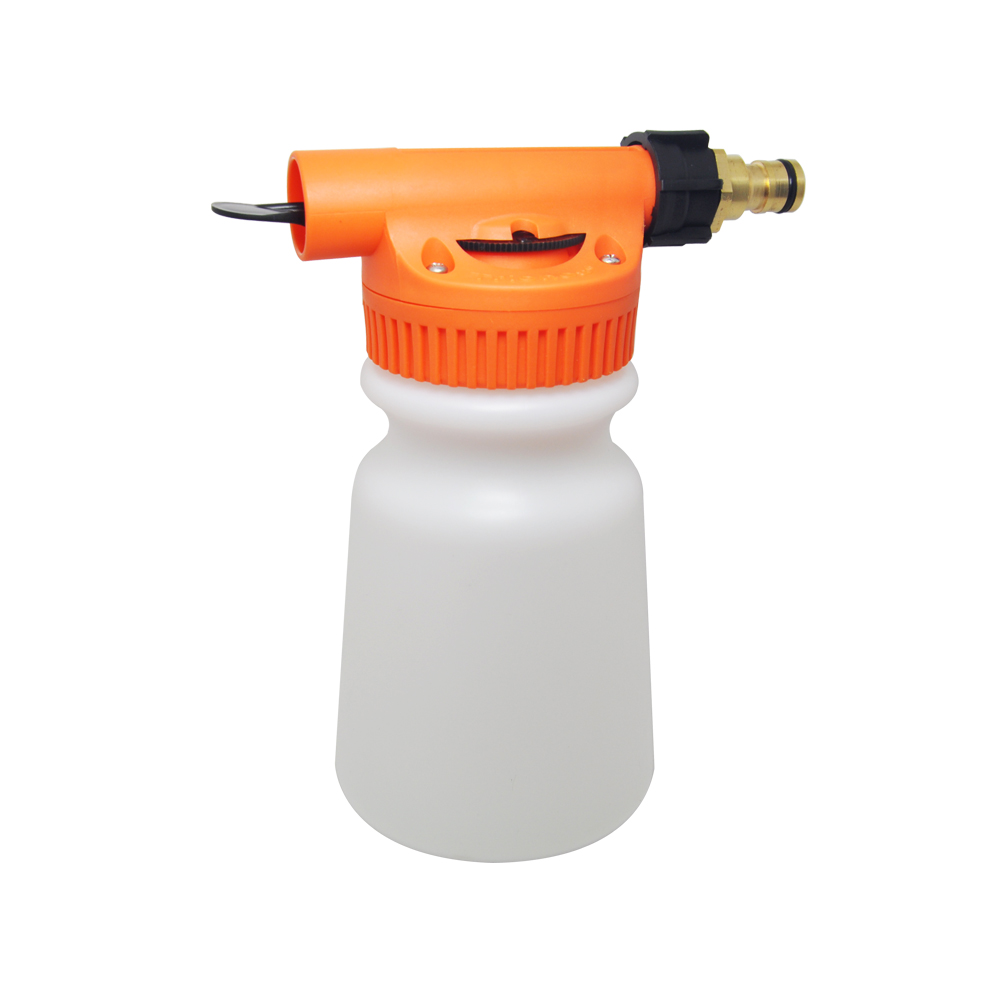 Small plastic garden hose end chemical sprayer