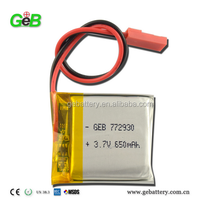 GEB772930 3.7V 650mAh Lithium Polymer Rechargeable Battery for GPS