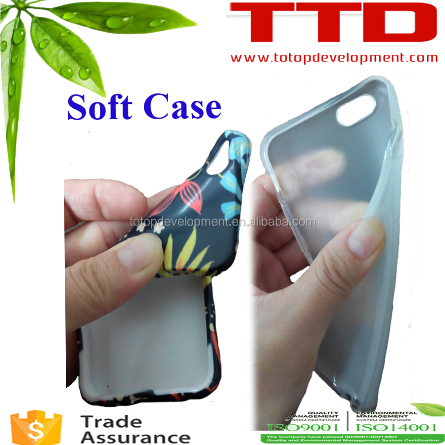 soft Printable sublimation Phone Case, TPU soft sublimation phone case ,HOT in USA