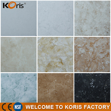 China Koris factory price Thermoforming heat resistance fireproof artificial marble stone for building material