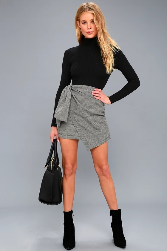 Wrap mini skirt latest style