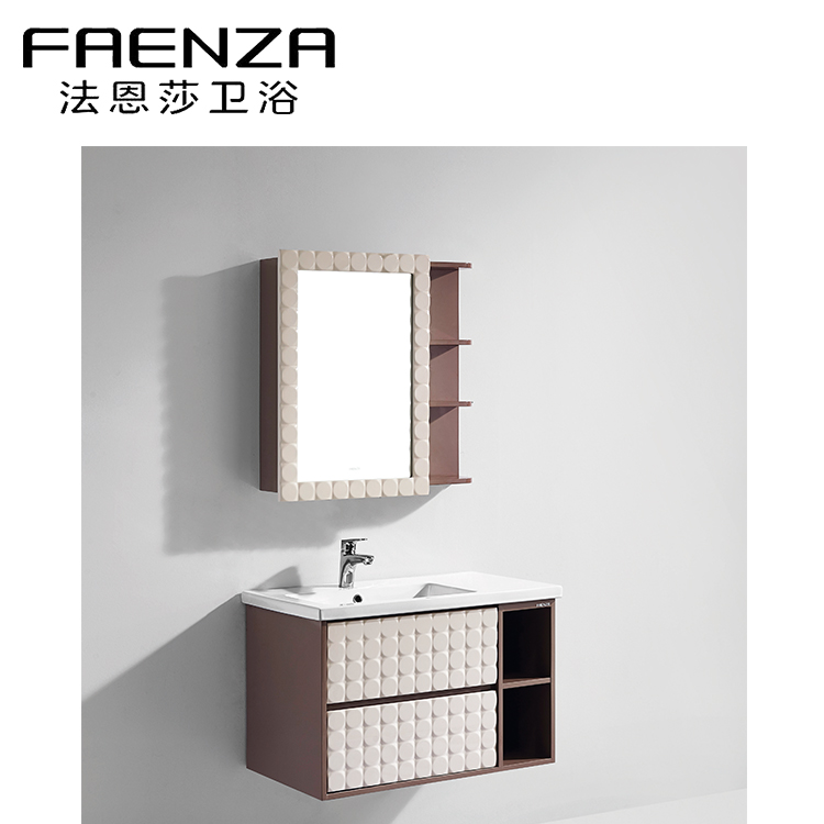 Modern Hotel Style Wall Hung White Basin Shower Cabinet