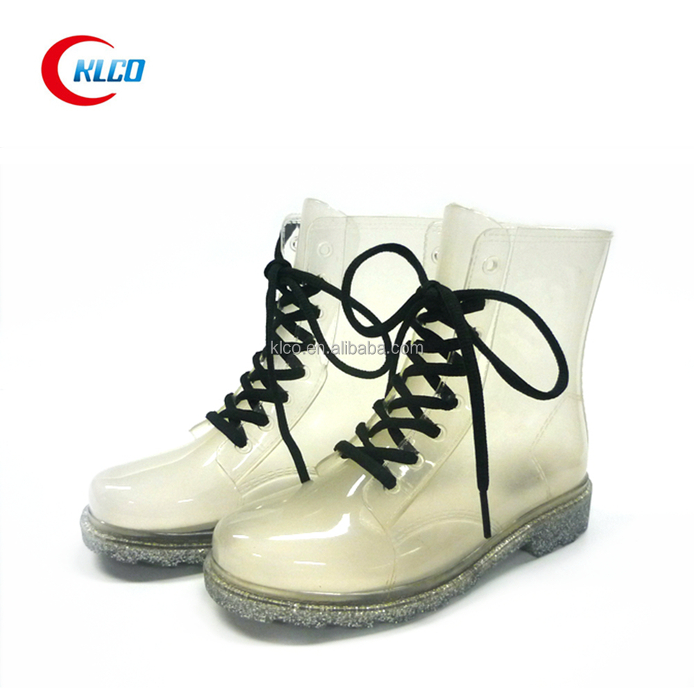 fashion sexy pvc transparent rain boot wholesale