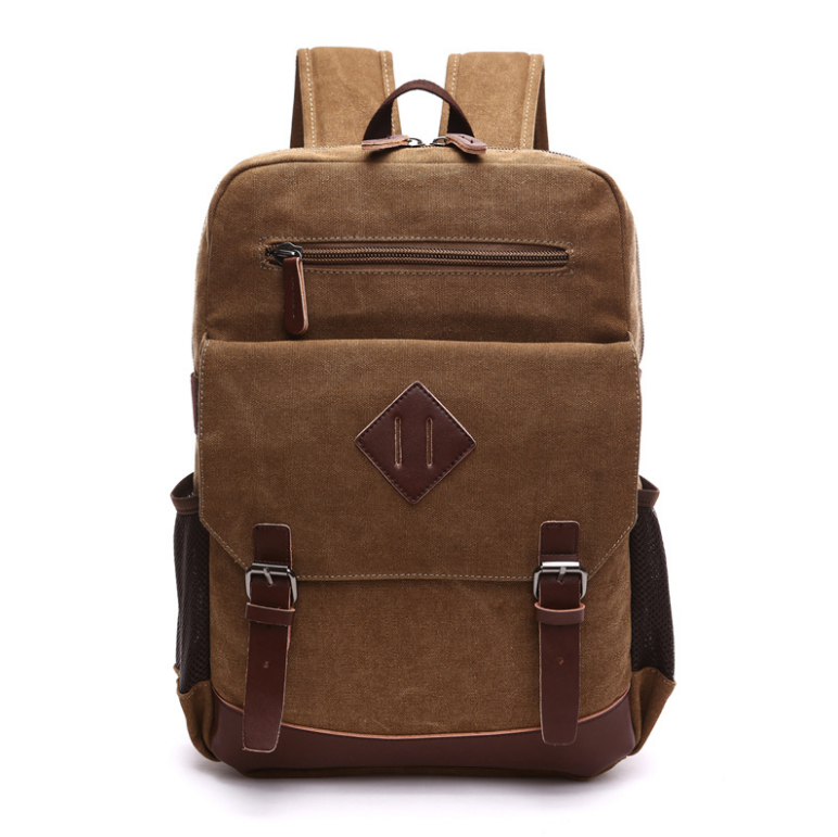China online shopping canvas school backpack canvas backpack for school blank canvas backpack wholesale