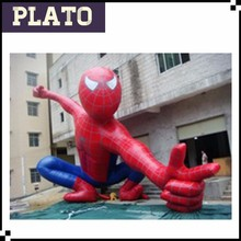 Cool brave inflatable spiderman for entertainment/outdoor decoration cartoon for advertising