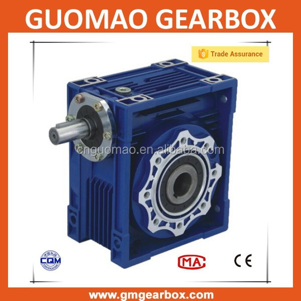 Rv Type Worm Gear Reducers Electric Motor And Worm Gear Box With Flange
