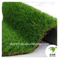 Green Color PU Artificial Grass Landscaping