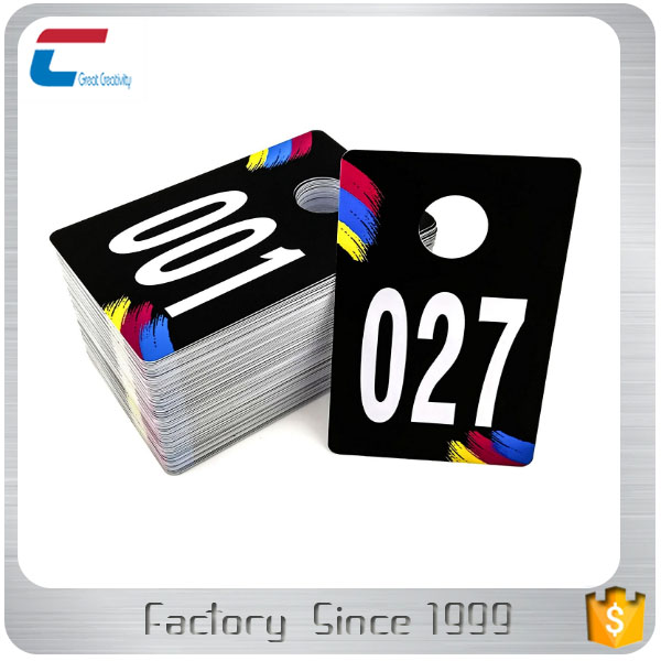 Plastic Clothes Number Hanger Cards Live Sale Mirror Numbers Tags