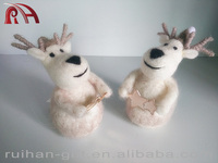 100% pure wool felt Christmas decoration and table decoration deer