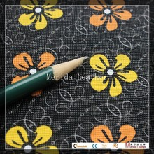 MRD2344 flower design synthetic leather raw material for bag making