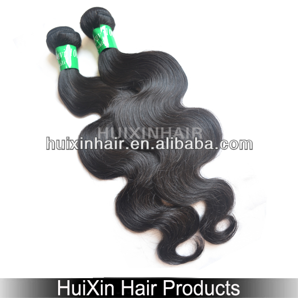 2014 6A guangzhou queen hair products natural curly natural color 6A grade virgin remy hair weaving no shedding no tan Body Wave