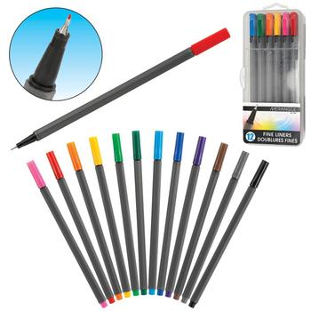 12/18/24/30 colors fine liner color marker pen set,perfect for writing in bullet journal