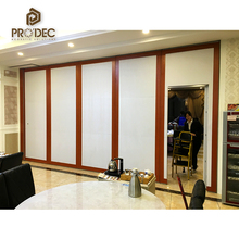 Simple design aluminium frame glass operable partition wall exterior folding door partition