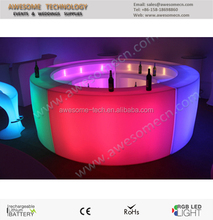 illuminated circle bar/ bar desk