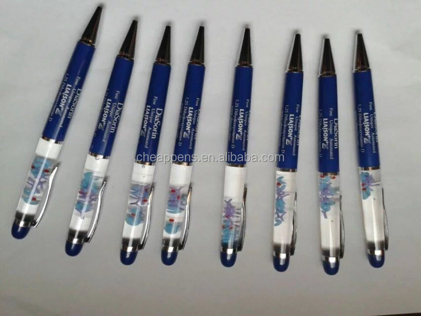 Promotional Aqua Liquid Ball Pen With Customized Floater,Custom PVC & 3D Floater