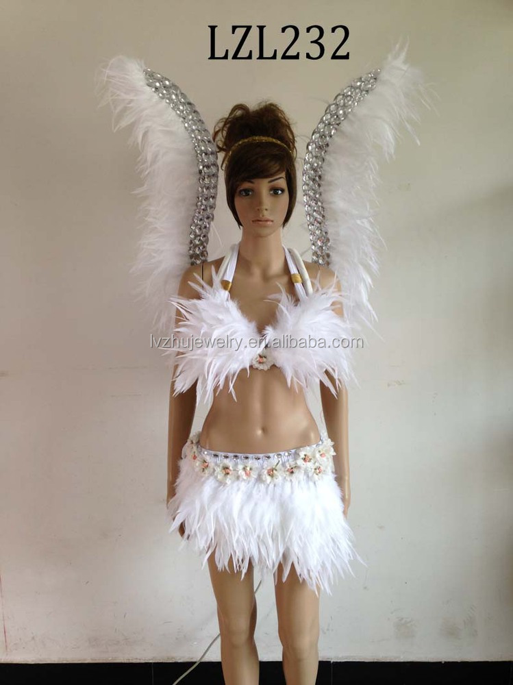Showgirl/Dance Burlesque Feather samba costume LZL232