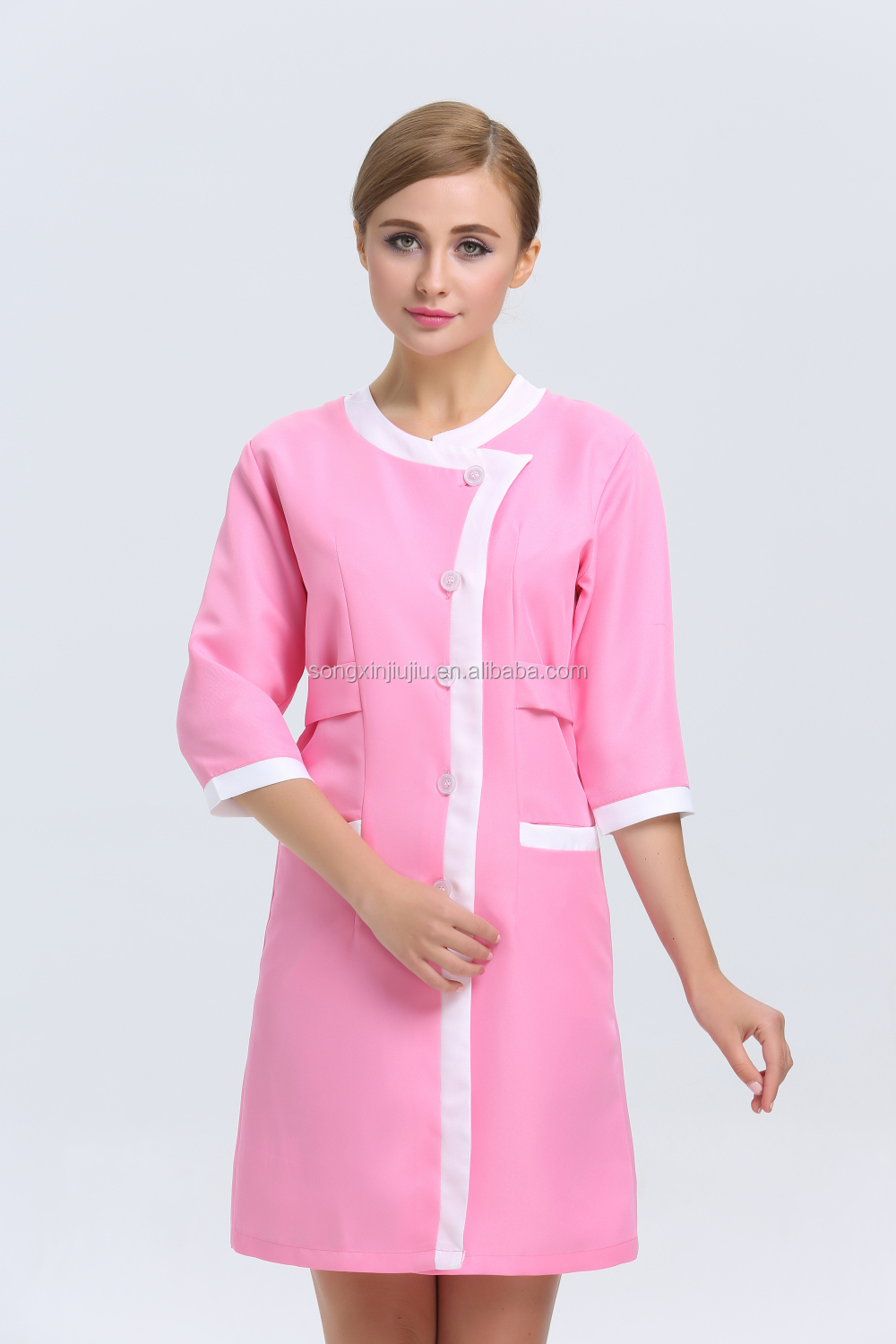 New arrival summer beauty salon uniform spa uniform hair for Spa uniform indonesia
