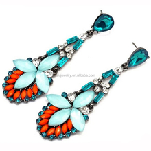 New Fashion Charm Bohemian Style Crystal Resin Dangle Earrings