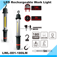 High Quality 180 Lumens LED Rechargeble Magnetic Work Light Waterproof IP Rating LED Working Light