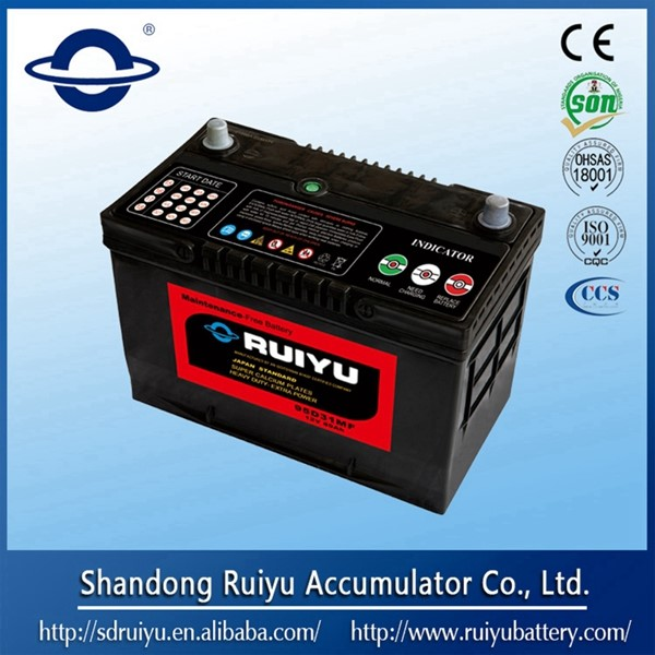 12 V Sealed maintenance free lead acid car battery Korean car battery