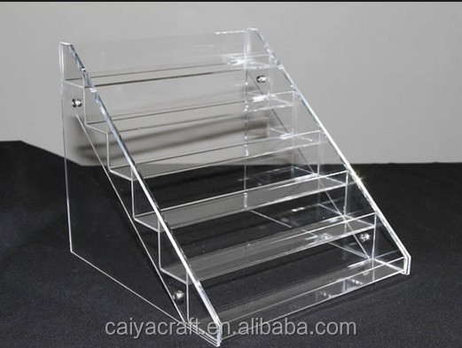 High quality clear acrylic nail polish stand holder cosmetic acrylic display