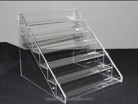 High quality clear acrylic nail polish stand holder cosmetic acrylic display