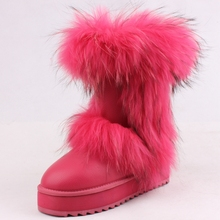 JLX2016 hot selling cheap price high quality fox fur winter kids snow boots