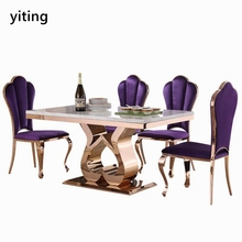 Modern 8 seater large opportunity second hand dining retaurant table and chairs set for sale