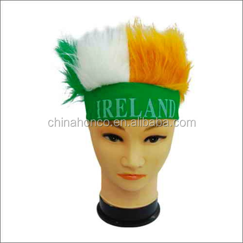 WM 2018 year Professional Alibaba Supplier football fan wig