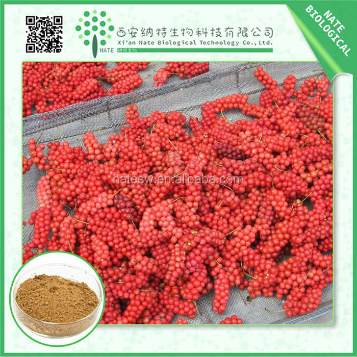 Heath care material Schisandra extract schisandrins 2% 5% 9% schisandrol A powder promoting physical endurance