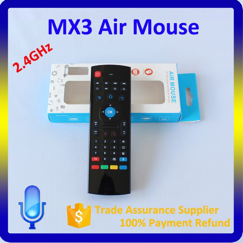 2016 Best 2.4g wireless keyboard MX3 air mouse android tv box remote control