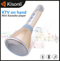 Karaoke Microphone Mini Portable Wireless Bluetooth Speaker Outdoor KTV Microphone For Computer TW-549