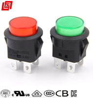 4 pin 220 volt led momentary push button switch