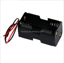 2-slot 4 x AA Battery Back To Back Holder Case Box With Wire Leads